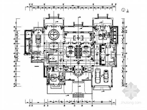 [浙江]精品欧式风格两层别墅大宅室内装修施工图(含实景效果图 推荐!)