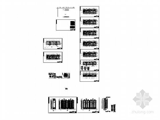 [海南]现代风格高层保障性住房建筑规划设计施工图-总缩略图