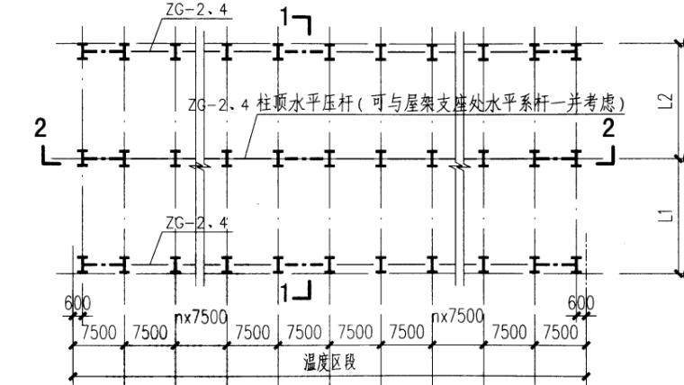 柱间支撑(柱距7.5米)