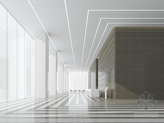 现代简约风格办公楼大厅3d模型下载