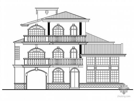 某三层别墅建筑施工套图