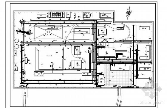 某工业广场室外给排水工程设计平面图