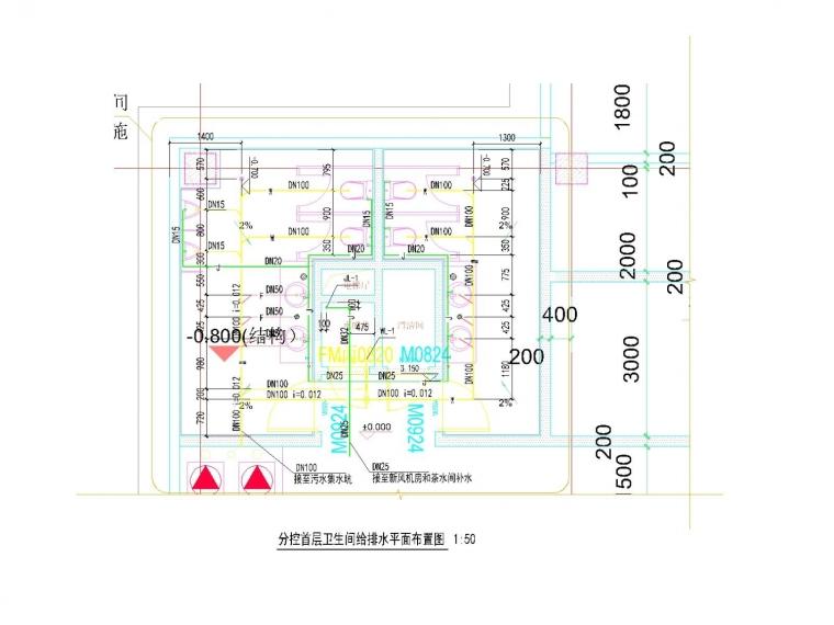 [湖南]高新技术产业园区给排水消防施工图设计(水处理系统)