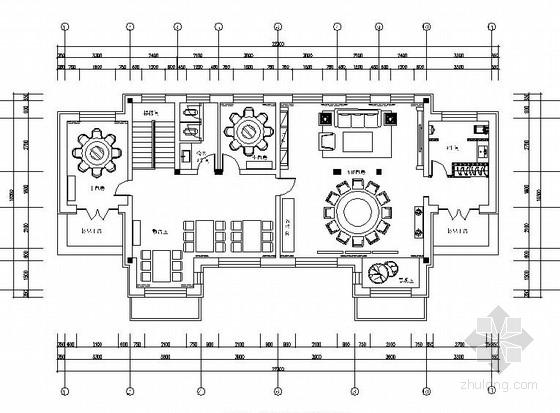 [黑龙江]高档欧式会所内餐厅空间布局与装饰设计施工图