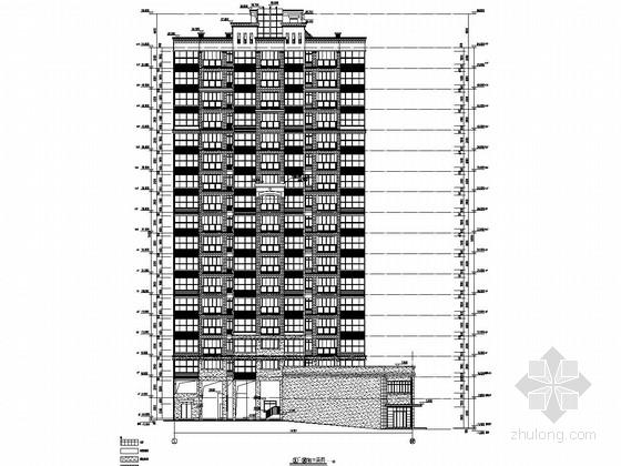 18层带两层底商框剪结构住宅楼建筑结构全套图