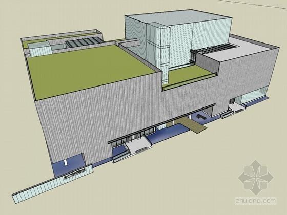 博物馆建筑SketchUp模型下载