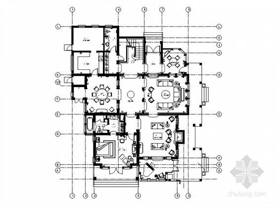 [上海]公馆三层欧式豪华庄园别墅装修图(含效果)