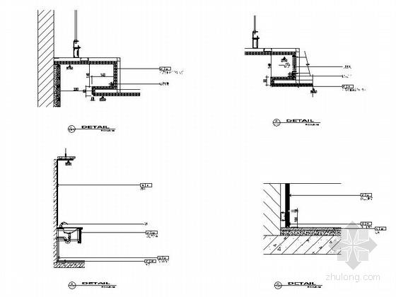 现代风格员工服务室室内装修节点图