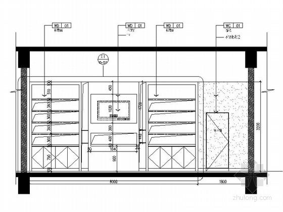 [原创]现代风格文体中心室内装修图 立面图