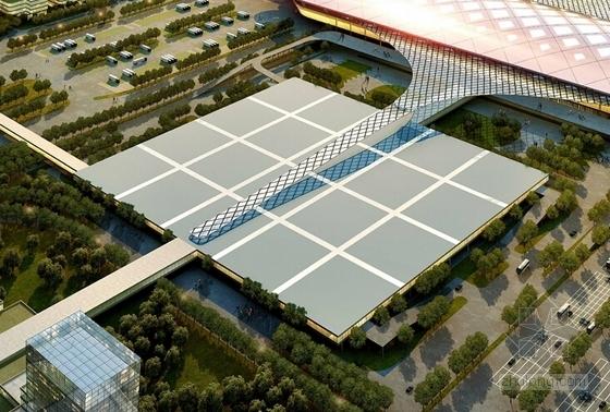 大型交通枢纽及多功能综合区规划方案效果图