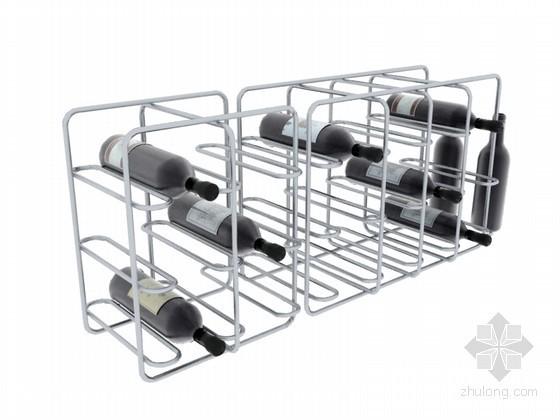 红酒金属架3D模型下载