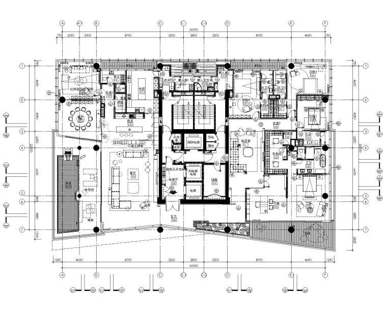 [李玮珉]深圳湾一号-现代风格豪华样板间室内装修设计施工图&效果图&固装深化 (CAD、JPG)