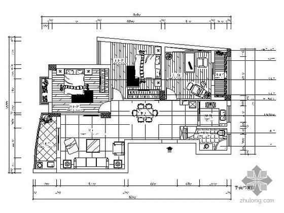 优雅三居室家装设计图(含效果图)