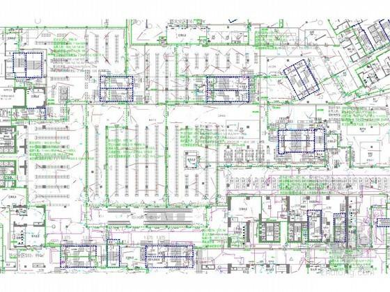 [云南]知名商场强弱电施工图纸(新火规 2014年底设计)