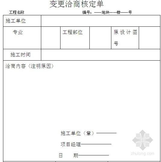开发公司办理洽商和签证程序(变更签证流程)