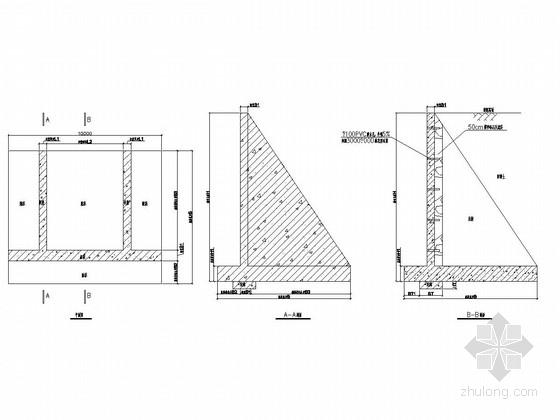 扶壁式挡土墙施工图(含配筋)