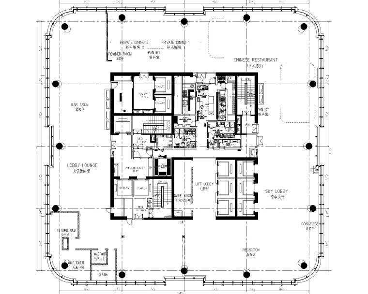 [广西]HBA-南宁豪华精选酒店CAD施工图+效果图+物料表