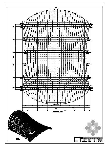 某火车站改造工程拱形网壳及站房屋面钢结构图纸