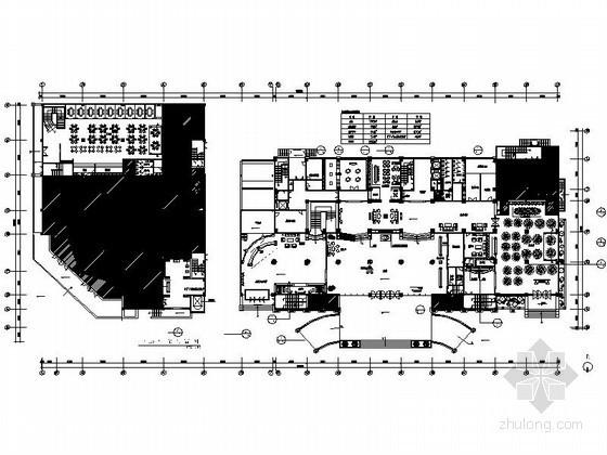[安徽]某国际大酒店装修平面图