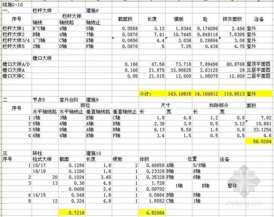 3层别墅土建工程量计量实例及表格(含图纸)
