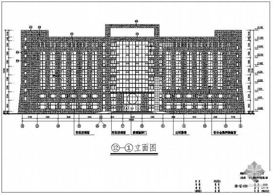 山东某厅办公楼幕墙结构图