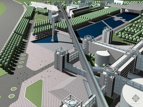 [沈阳]某工程学院新校区建设工程方案及文本规划图(含效果图)