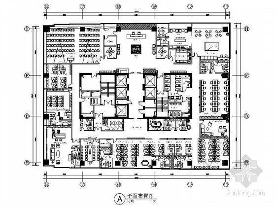 [深圳]时尚珠宝公司现代简约风格写字楼室内装修施工图(含高清效果 推荐!)