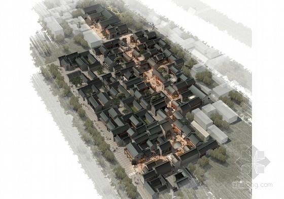 [山西]古城历史街区风貌改造建筑设计方案文本(含仿古单体建筑CAD)