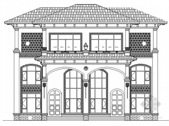 [江西]某三层新古典风格双拼别墅建筑施工图