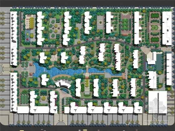 [河南]闲适宁静欧式风格居住区景观规划设计方案