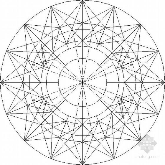 锥形图空间立体造型钢结构施工图
