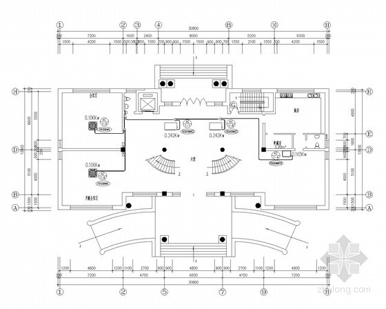 VRV空调装修图资料下载-联体住宅别墅VRV多联中央空调系统设计施工图