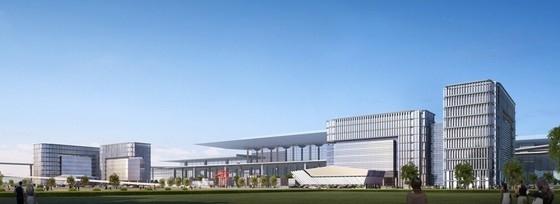 大型交通枢纽站建筑设计效果图