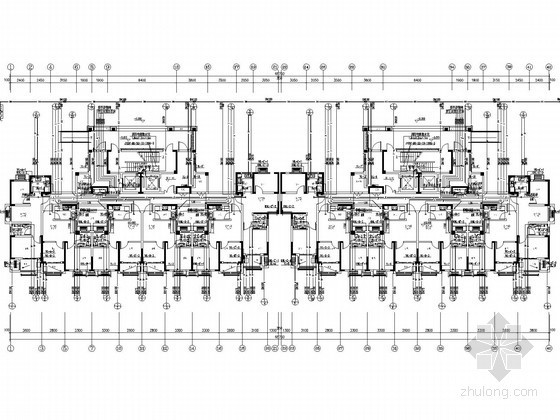 [湖北]19层一类高层住宅给排水消防施工图(冷凝水系统)