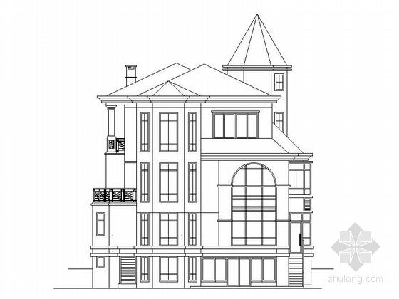 [东莞]某三层欧式风格别墅建筑设计方案图(含效果图)