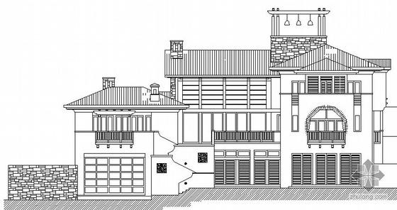 [四川省都江堰市]某三层坡地B型2号别墅建筑结构水电施工图