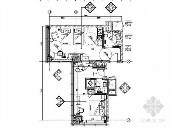 [江苏]时尚家庭套房室内装修图