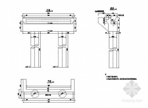 预应力混凝土栏杆详图设计资料下载-1×16米预应力混凝土空心板桥台构造节点详图设计