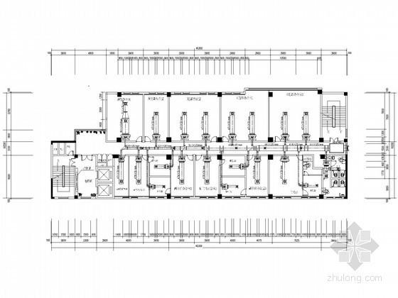 湖北]高层办公楼风冷热泵空调系统设计施工图