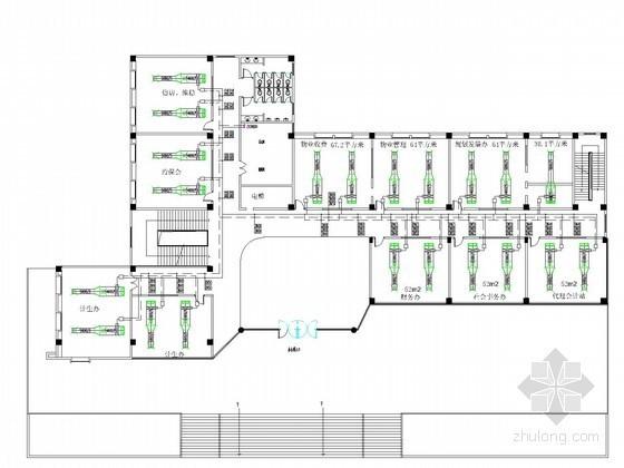 [广东]小型办公楼空调新风系统设计施工图(含建筑设计)