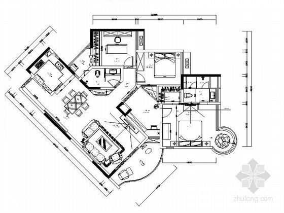 精品奢华欧式风格四居室内装修设计图(含效果)