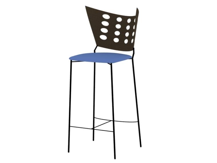 现代吧椅3D模型下载
