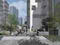 社区改造下沉广场景观方案设计文本(SU模型)