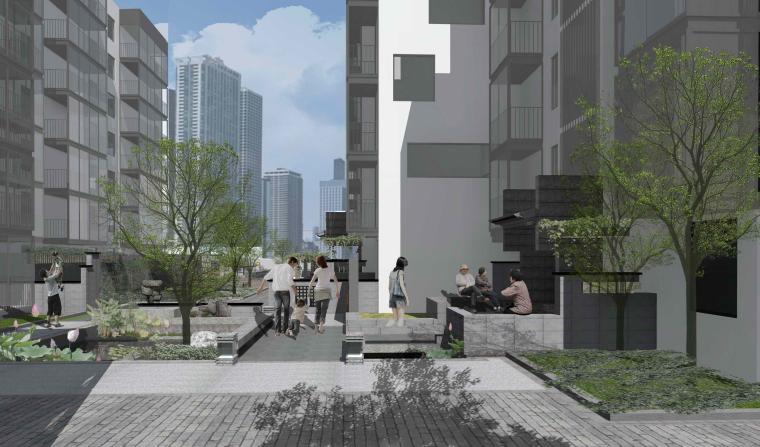 社区改造下沉广场景观方案设计文本(SU模型)_1
