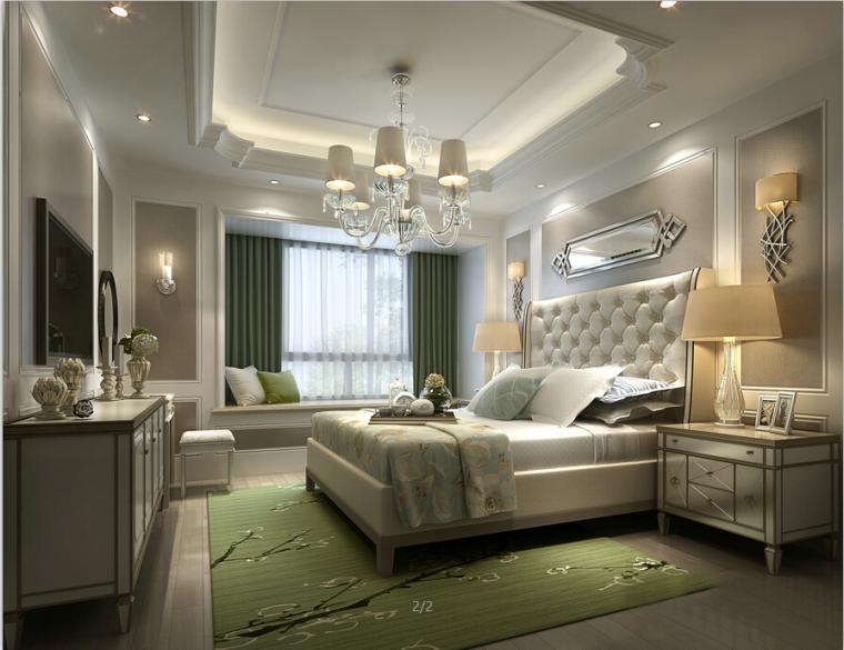[杭州]欧式两居样板间室内设计施工图(含效果图+实景图)_7