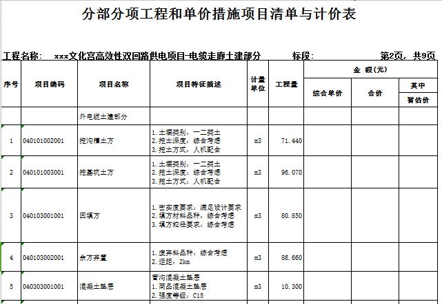 [广东]2018文化宫高效性双回路供电项目工程量清单实例(图纸)_7