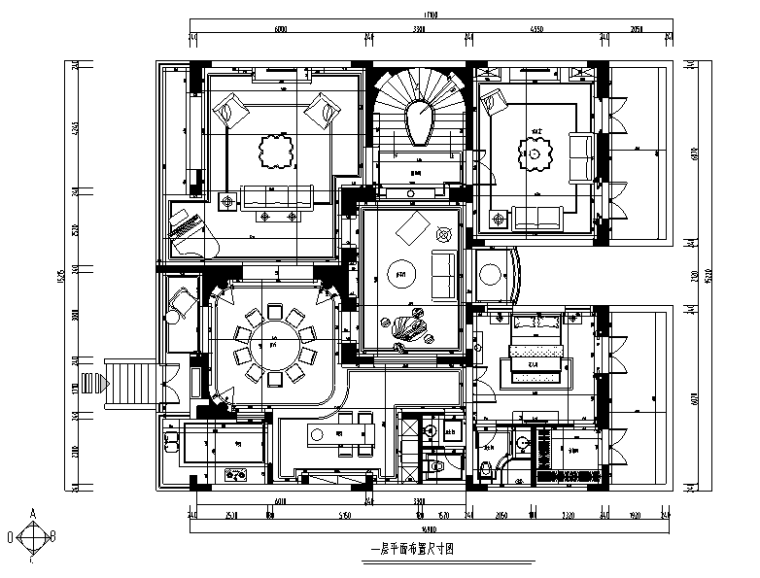 【浙江】混搭风格玫瑰半岛别墅设计施工图(附效果图)_3