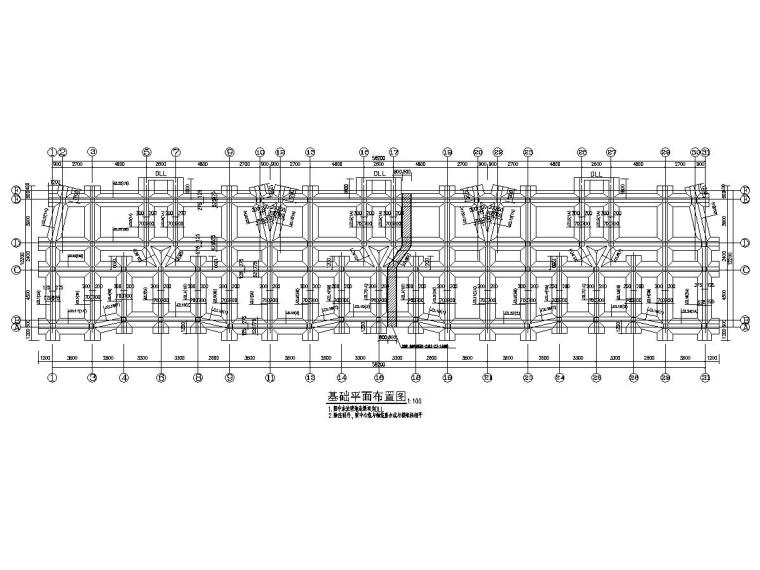 [海南]两栋地上五层框架结构安置楼房结构施工图