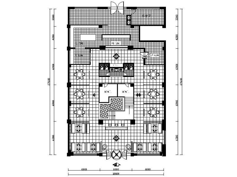 [通化]新中式风格火锅店室内设计施工图(含效果图)
