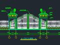 围墙铁艺栏杆方案CAD图